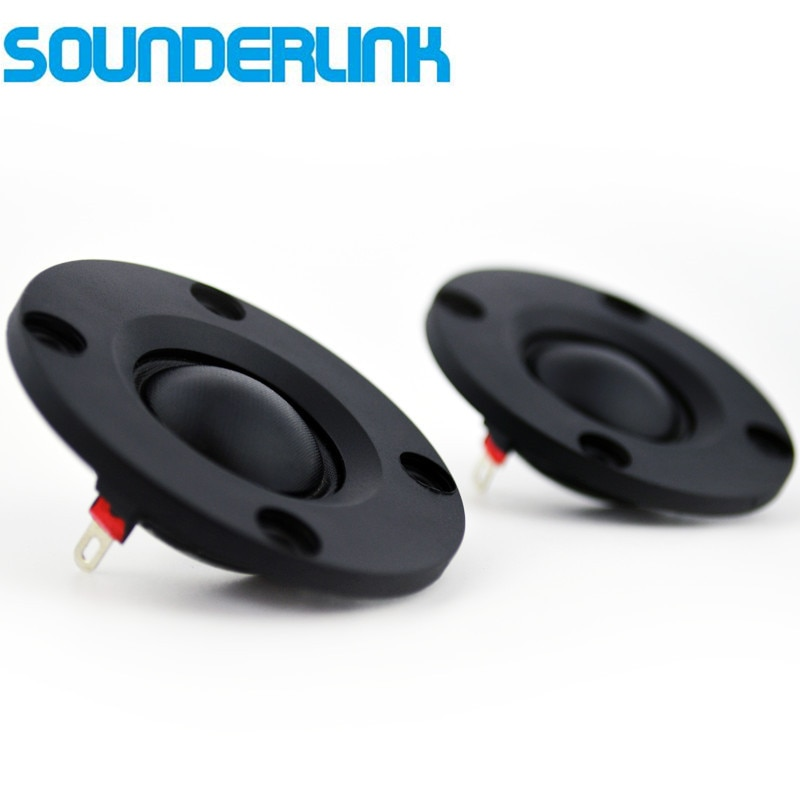 2 Piece/lot Sounderlink audiolabs 2 inch HiFi silk soft Dome speakers  tweeter diaphragm driver unit 6 Ohm Diy
