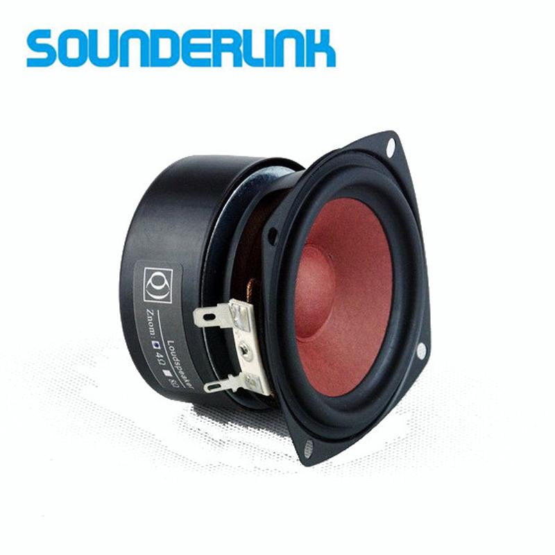 2PCS/LOT Sounderlink HiFi 3'' Full Range Speakers 3 inch unit tweeter  Medium and bass repair DIY home theater
